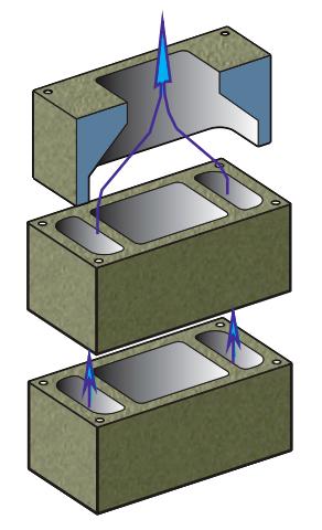 Три типа блока системы Schiedel CVENT
